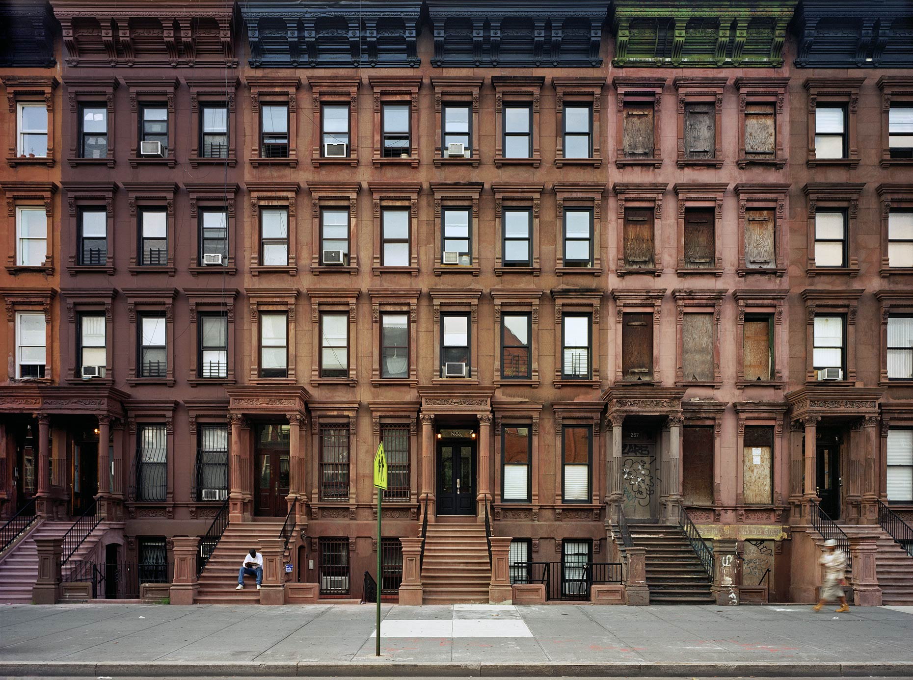 Brownstones, Lenox Avenue, Harlem, New York