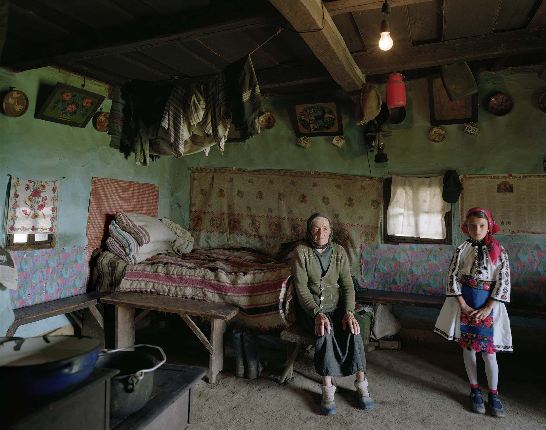 Grandmother and Granddaughter, Maramures, Romania, 2007