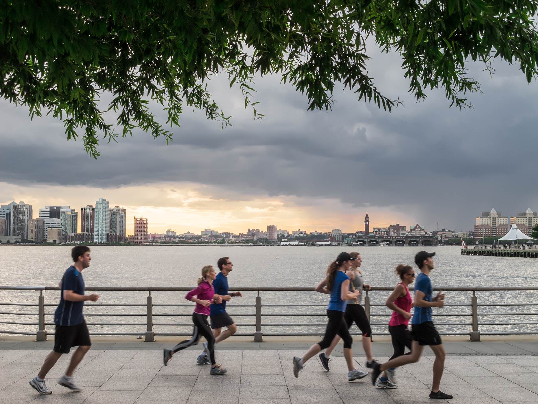 Runners, Hudson River Park, New York, New York