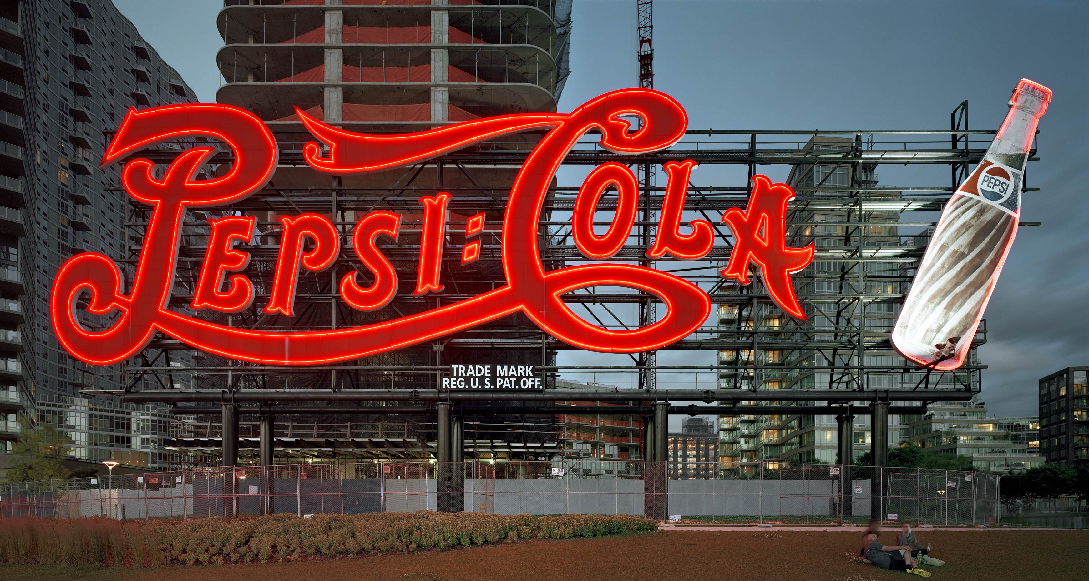 Pepsi-Cola Sign, Gantry Plaza State Park, Long Island City, New York