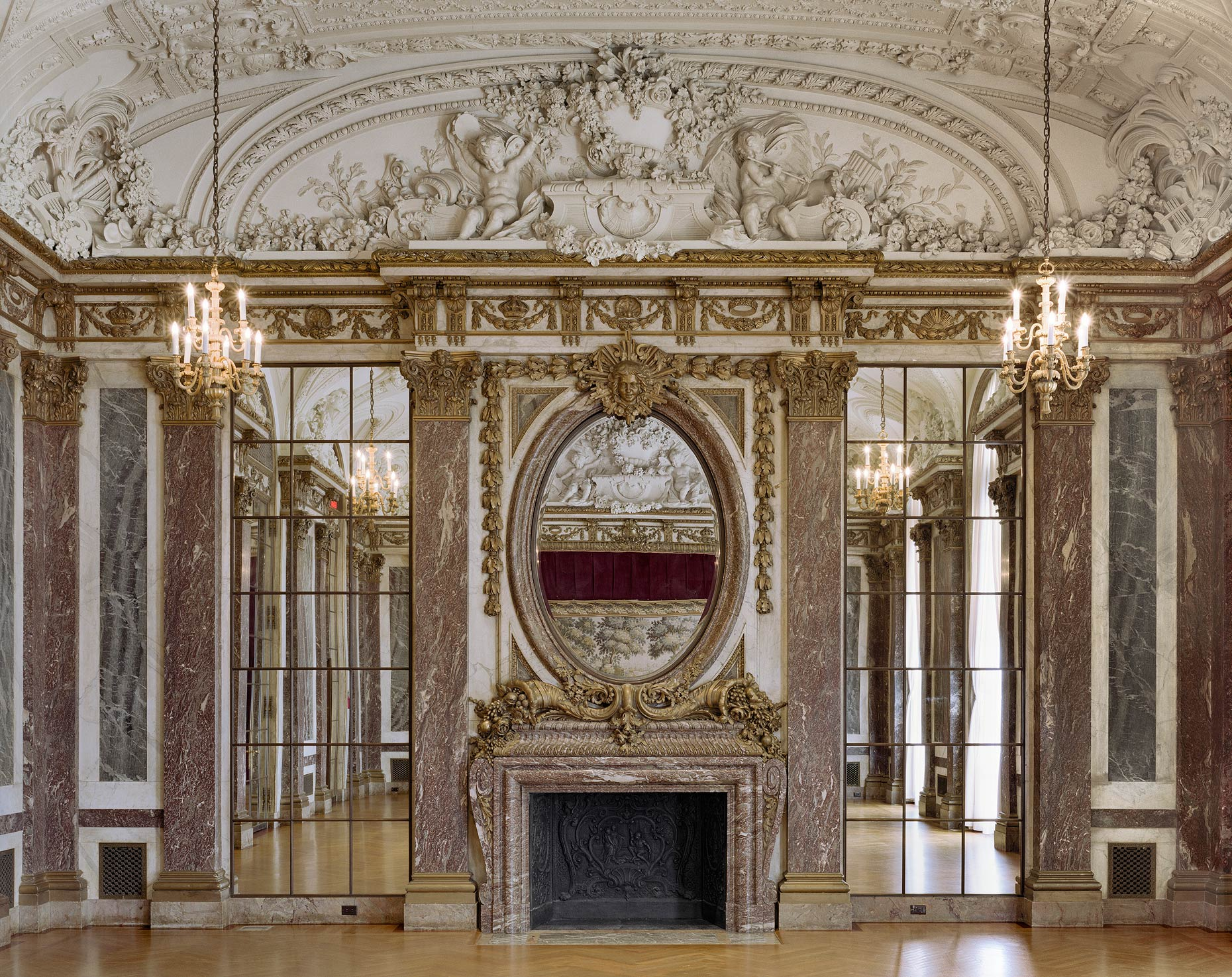 Ballroom, Burden Mansion, Convent of the Sacred Heart, 1 East 91st Street, New York City, 2015
